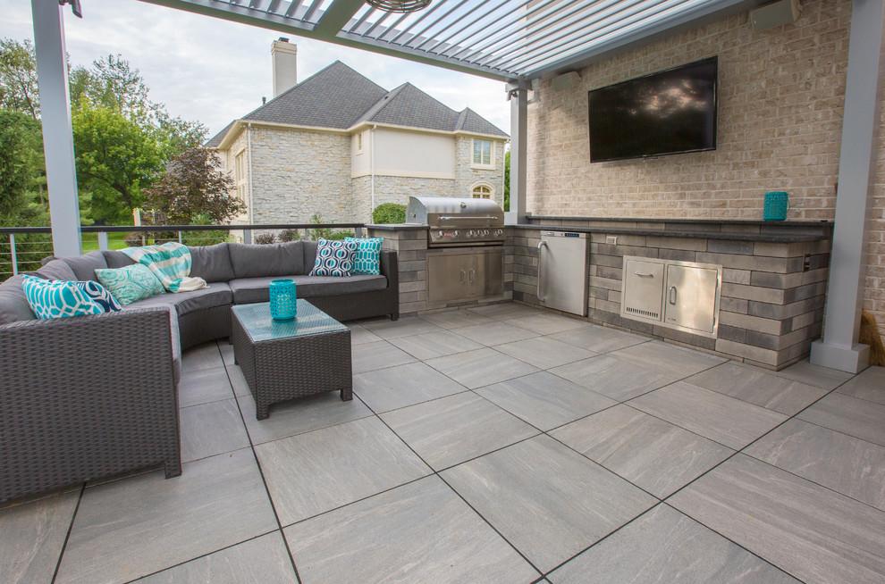 paver patio porcelain tile deck