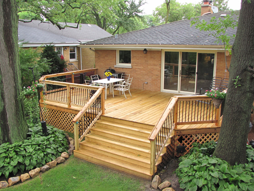 Western Springs - Dm Rail and cedar decking from Trex ... on D&M Outdoor Living Spaces id=52784