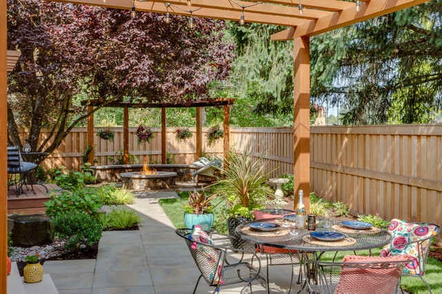 inviting terrace in oregon inspired by