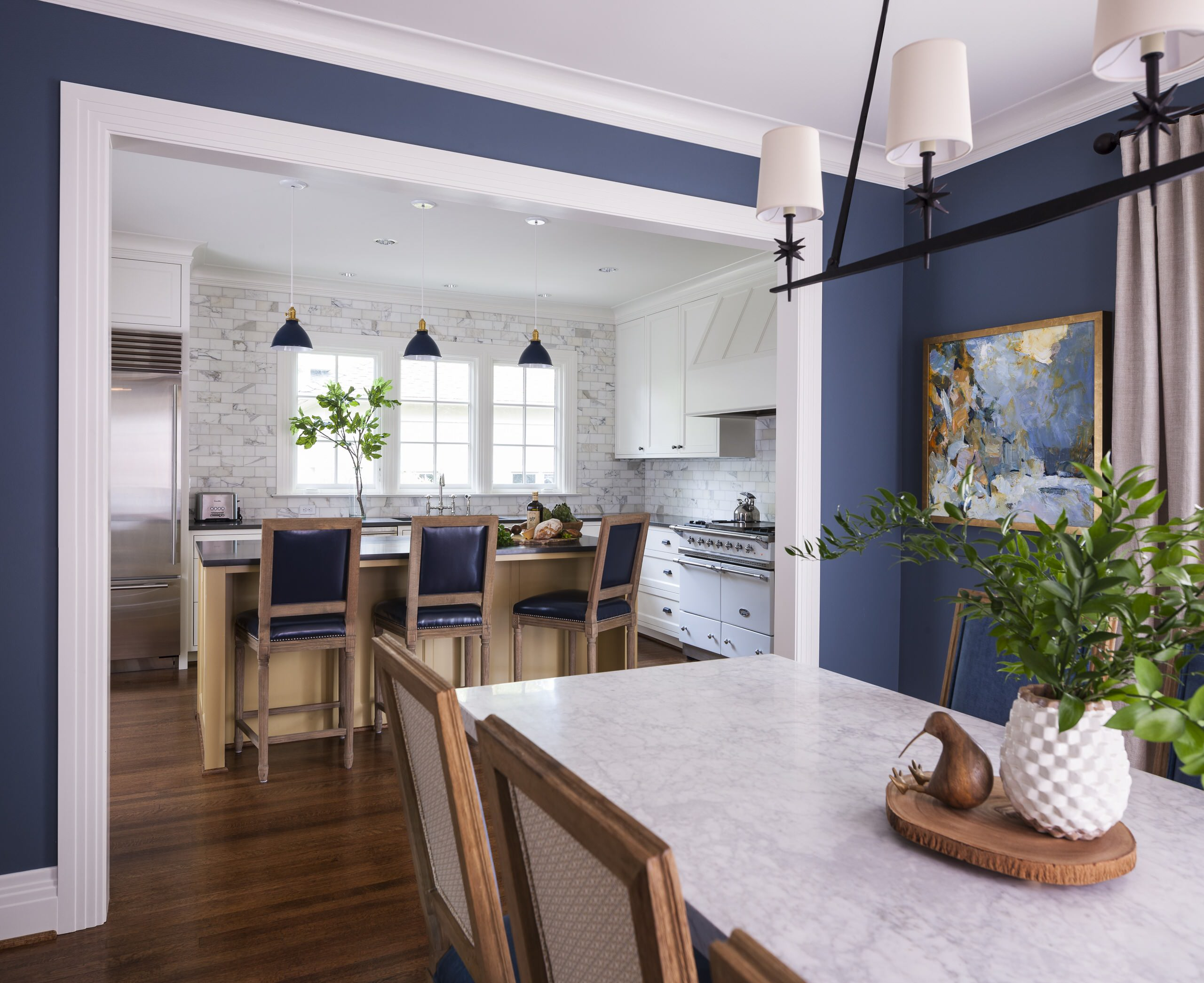 75 Beautiful Dining Room With Blue Walls Pictures Ideas December 2020 Houzz