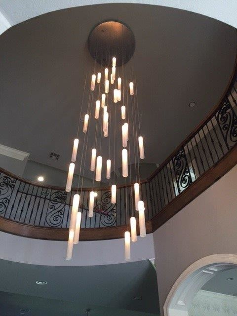 contemporary foyer lighting modern