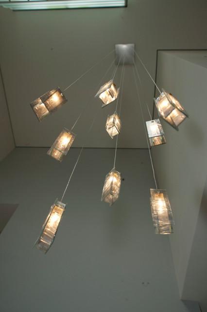 modern foyer lights modern blown glass