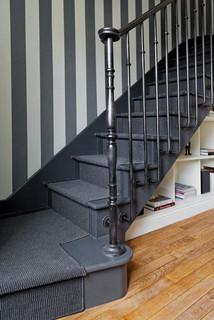 Photos Et Idees Deco D Escaliers Avec Des Contremarches En Bois Peint Janvier 2021 Houzz Fr