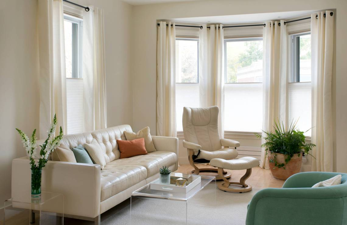 White Leather Couch Houzz