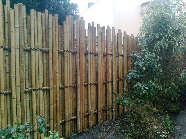 palissade en bambou teppo barriere de