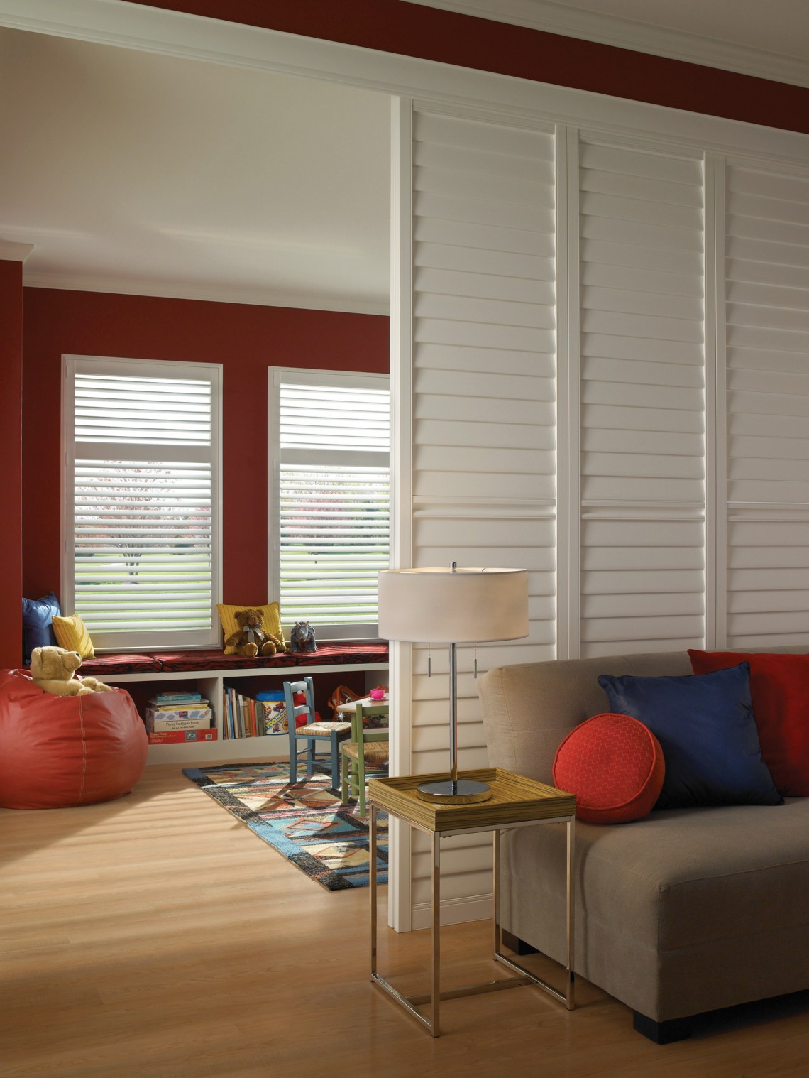 Playroom With Sliding Room Divider Contemporary Kids Atlanta By Eclipse Shutters Houzz
