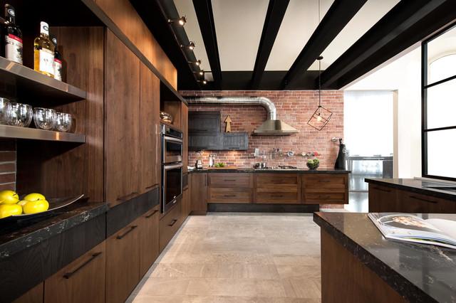 armoires de cuisine style loft