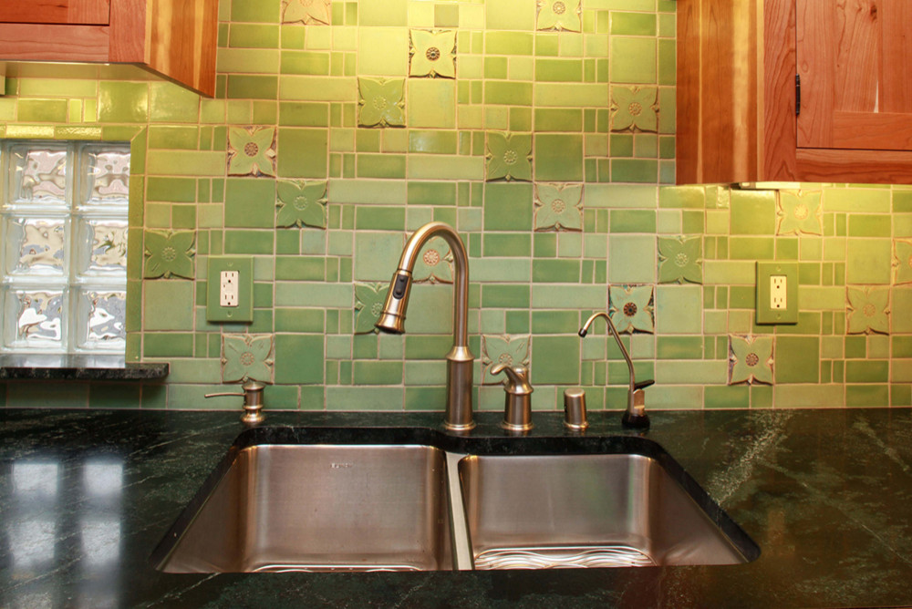 arts and crafts kitchen tile houzz