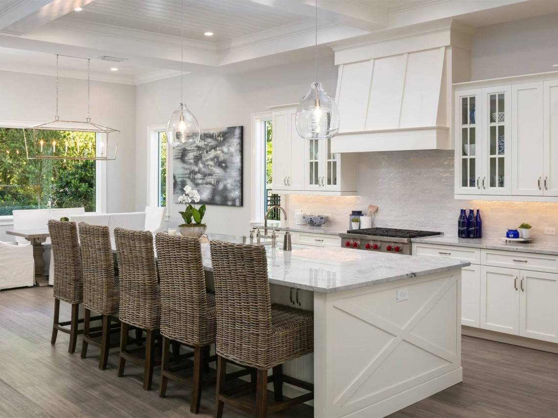 British West Indies Inspired Custom Home In Winter Park Florida Beach Style Kitchen Orlando By Element Home Builders Houzz