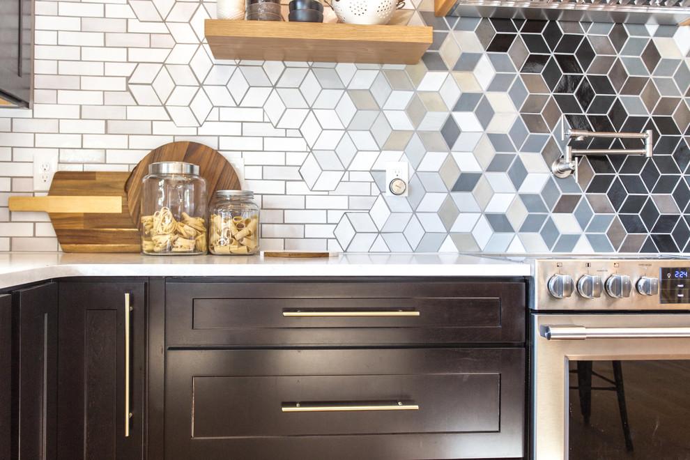 custom diamond tiles merge with