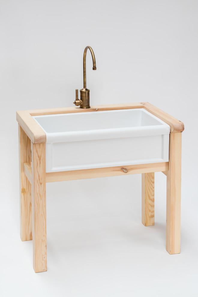 wooden stand farmhouse kitchen