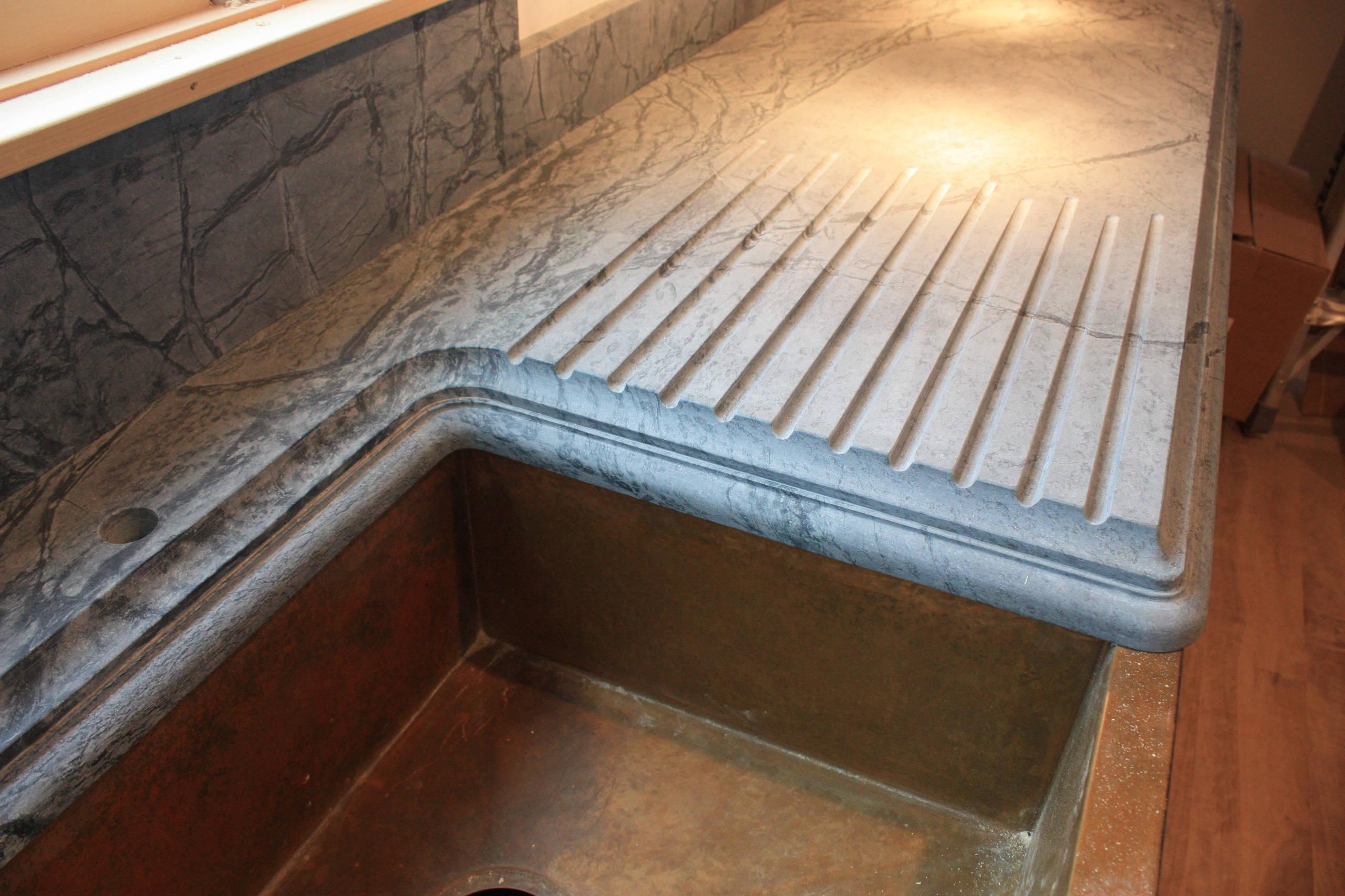 soapstone drainboard houzz