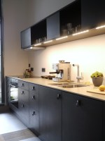 Küche Schwarz Holz / Schwarze Kuche In Modernem Stil Ikea ...