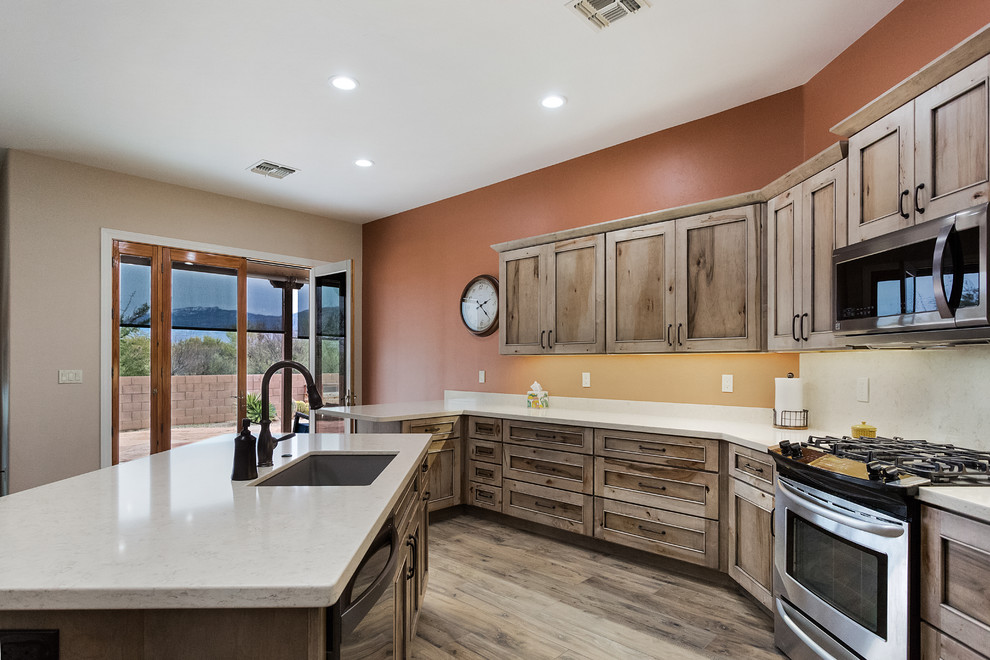 Kitchen with Natural Maple Cabinets - Transitional ... on Natural Maple Cabinets  id=83710
