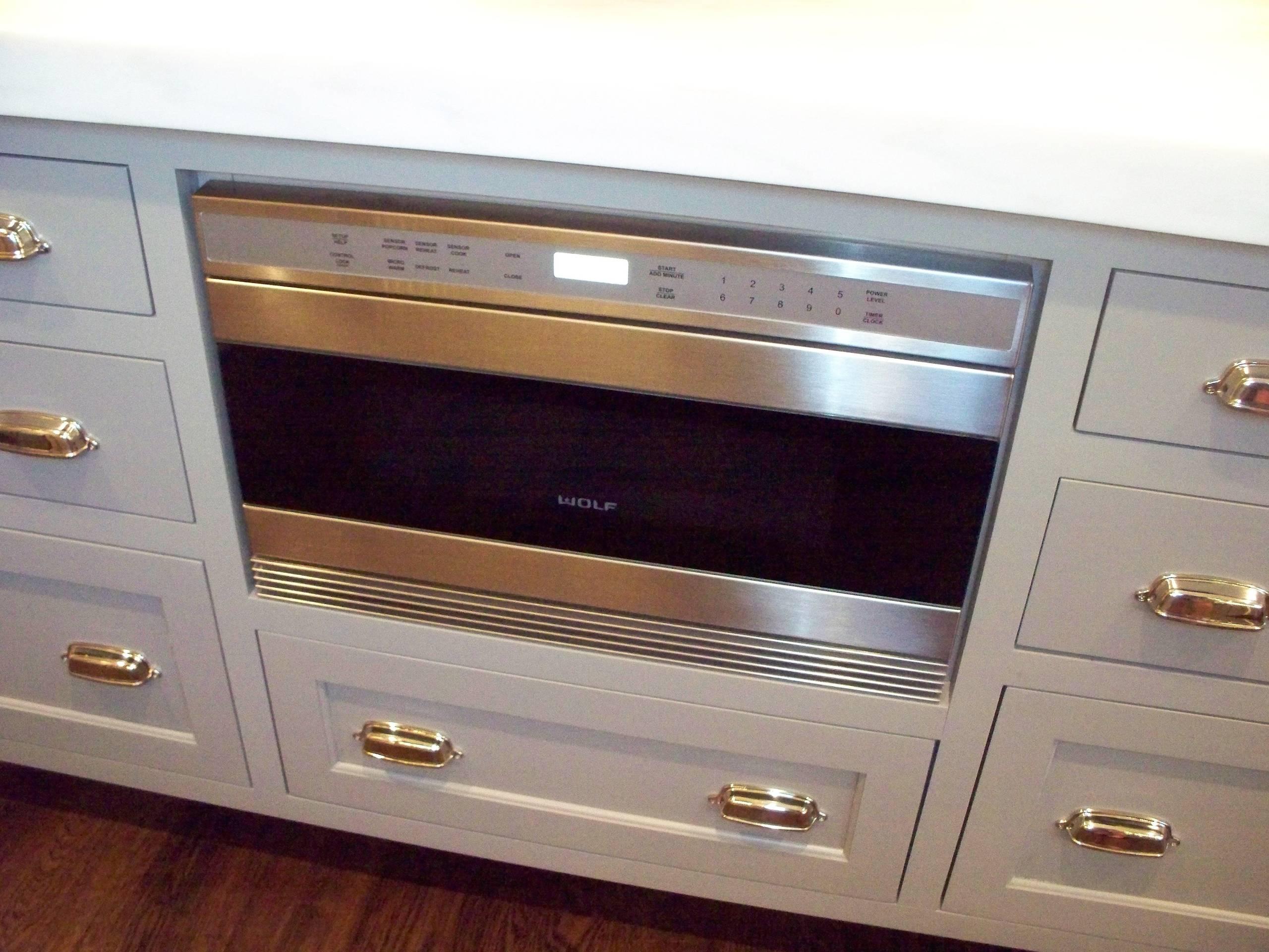 microwave drawer in island houzz