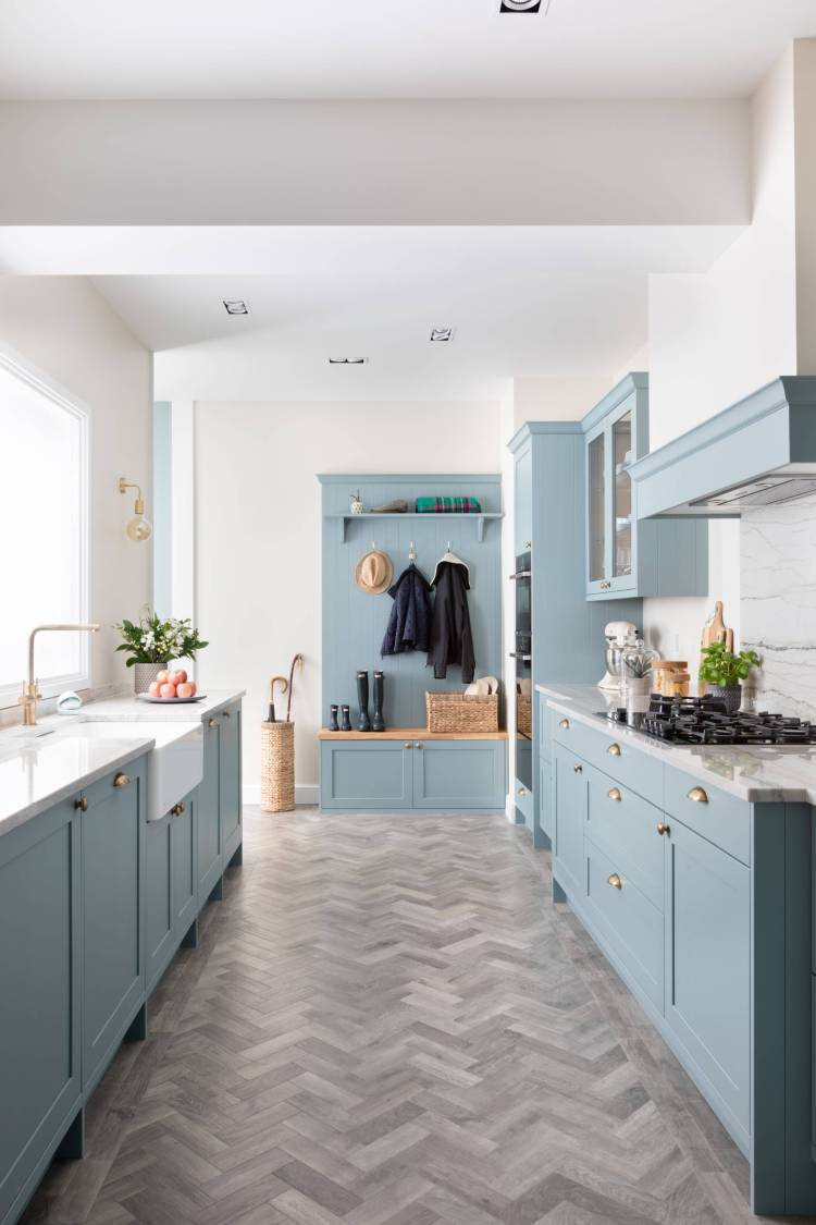 75 Beautiful Kitchen With Blue Cabinets And Granite Countertops Pictures Ideas January 2021 Houzz