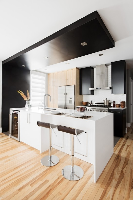 kitchen cuisine moderne noir et blanc