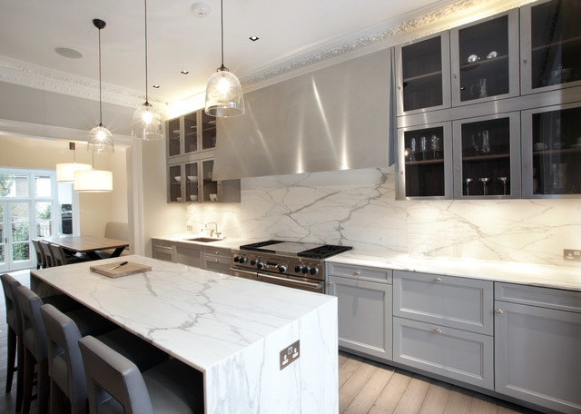 When installing kitchen lighting, you need to consider your cooking, food prep or dining areas in addition to the look and feel of your home. Notting Hill Kitchen For 202 Kitchen Design Contemporary Kitchen London By Alex Maguire Photography Houzz Ie