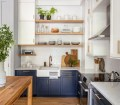 75 Beautiful Kitchen With Blue Cabinets And White Backsplash Pictures Ideas November 2020 Houzz