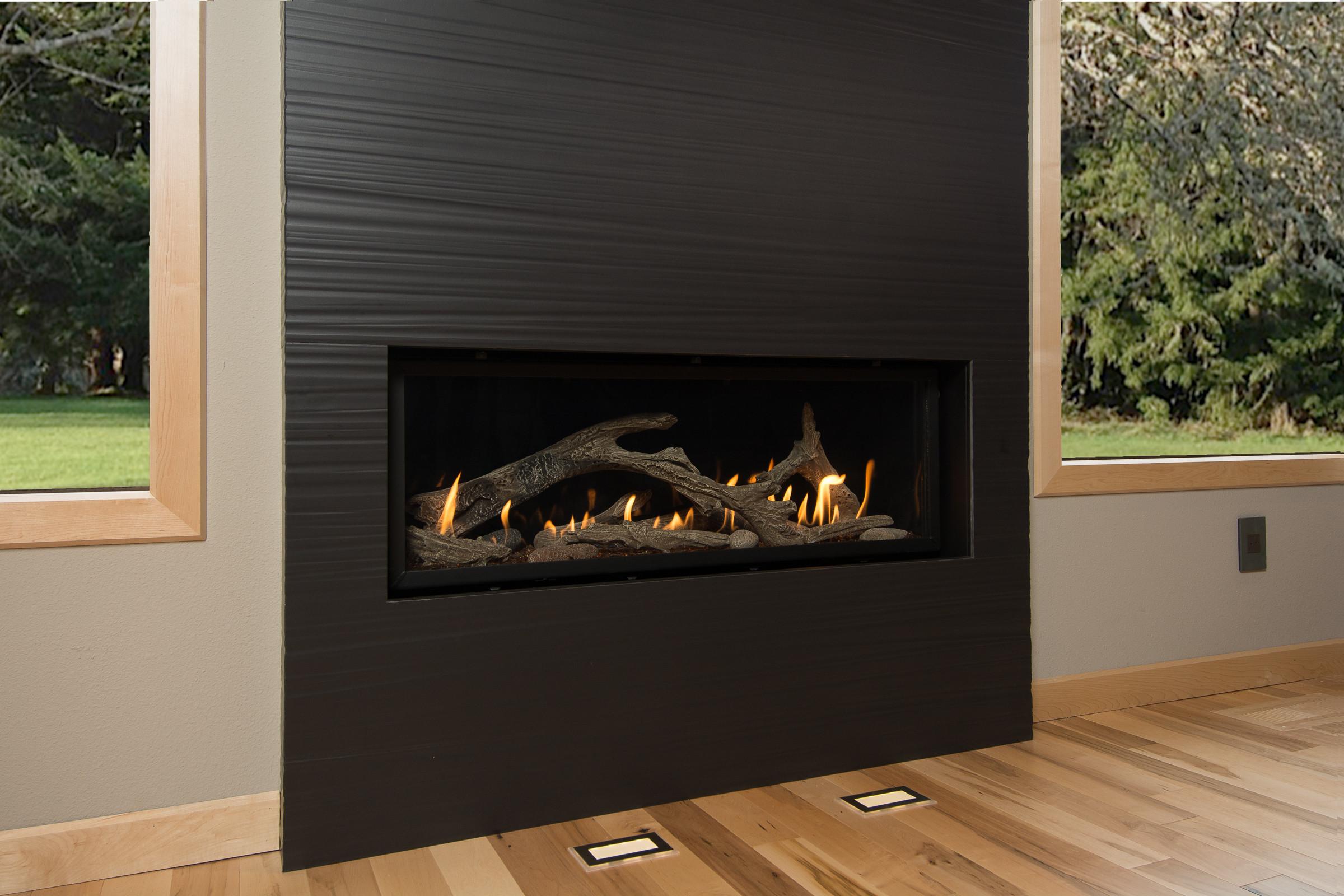 black tile fireplace houzz