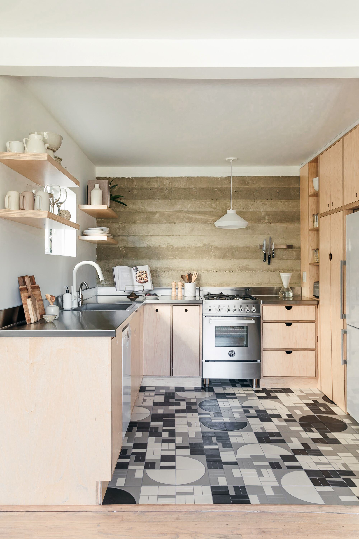 kitchen designs black and white tiles