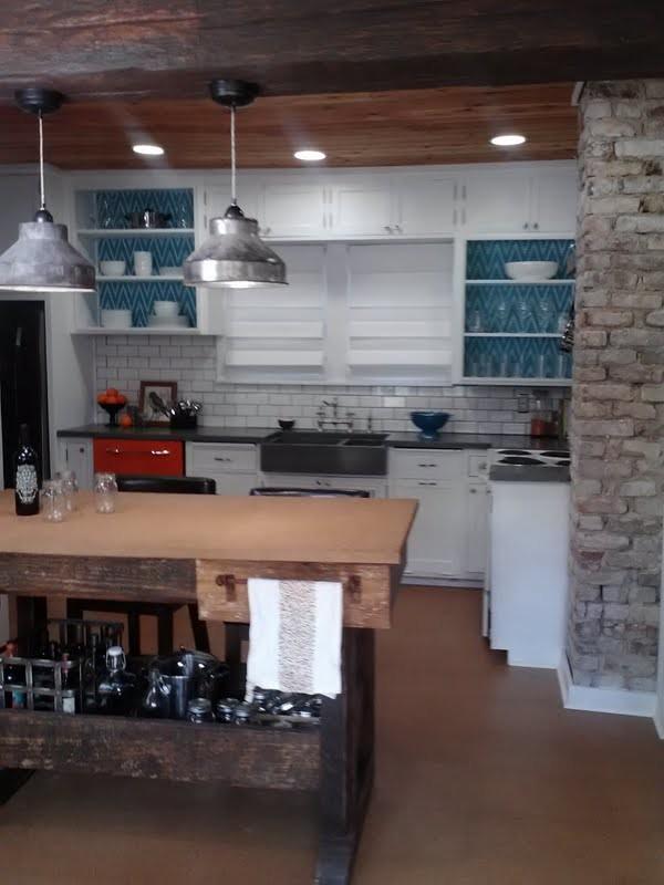 Urban Rustic Farmhouse Kitchen - Farmhouse - Kitchen ... on Rustic:yucvisfte_S= Farmhouse Kitchen Ideas  id=20552