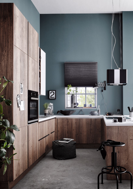 24 suggerimenti per le pareti della vostra cucina! 6 Colori Che I Pro Usano Per Valorizzare Le Cucine In Legno Noce