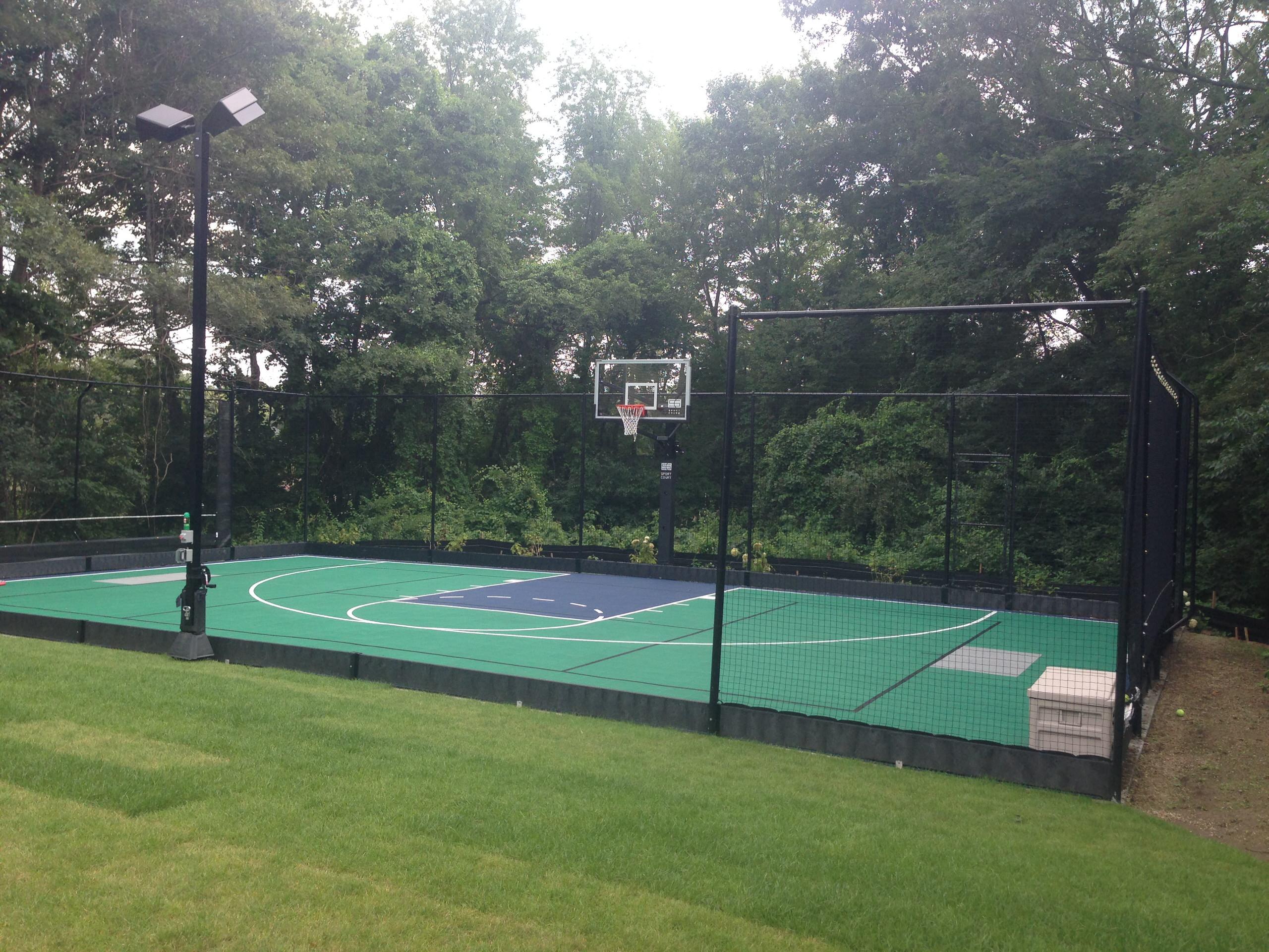 andover backyard basketball court with