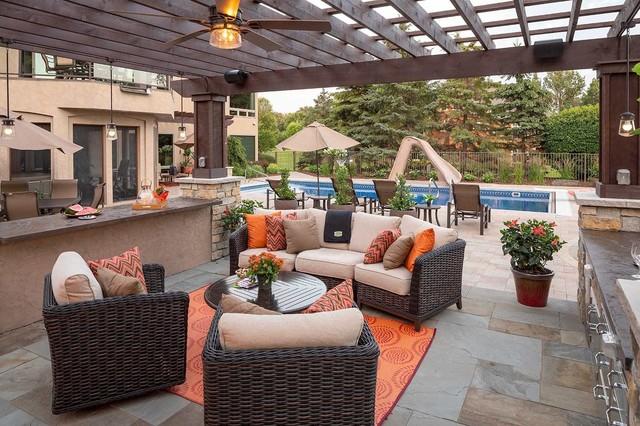 luxury outdoor living room patios