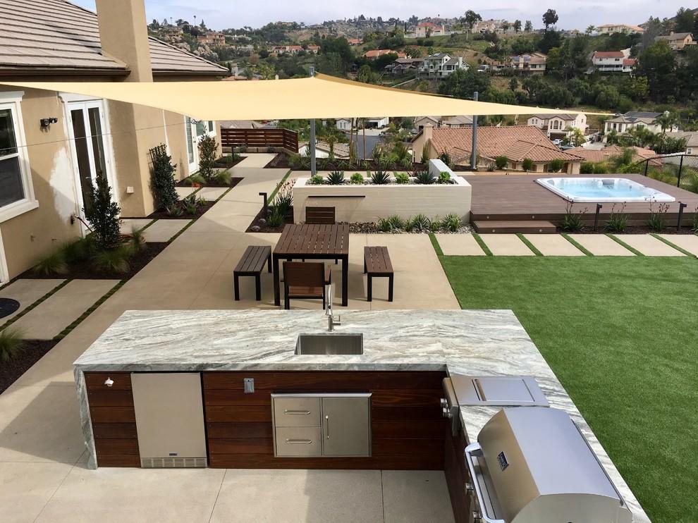 modern backyard remodel modern