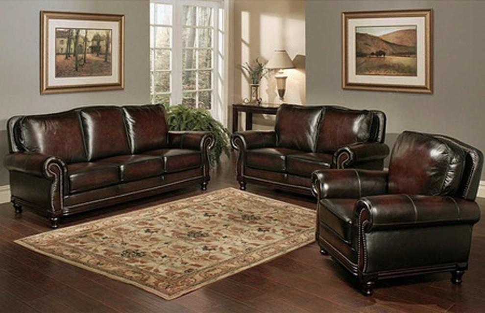 abbyson living palermo wood trim sofa
