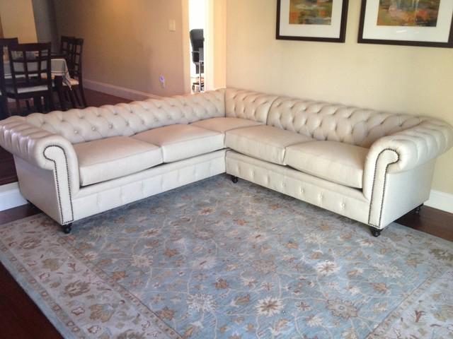 chesterfield custom sectional sofas
