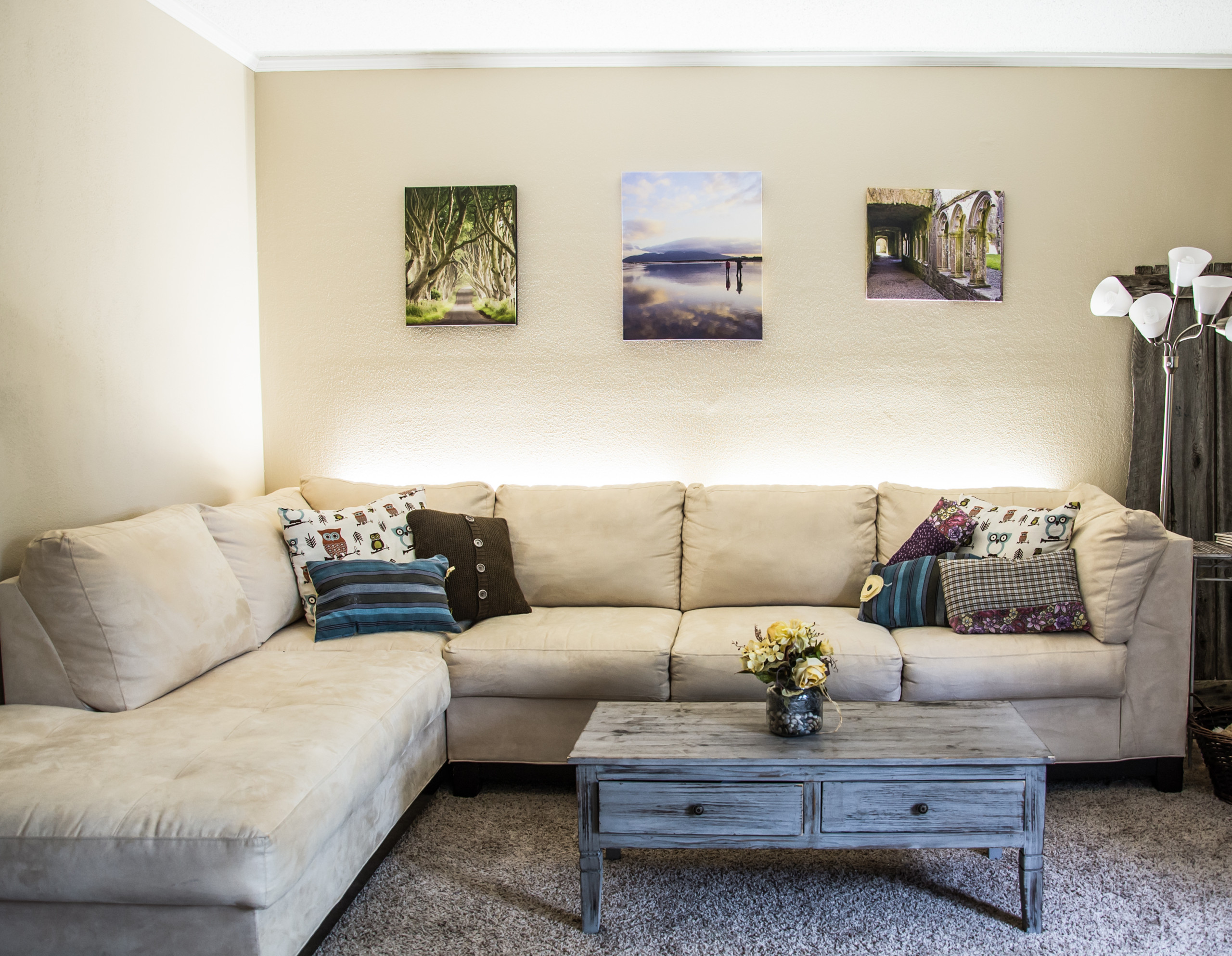 led home seating accent lighting