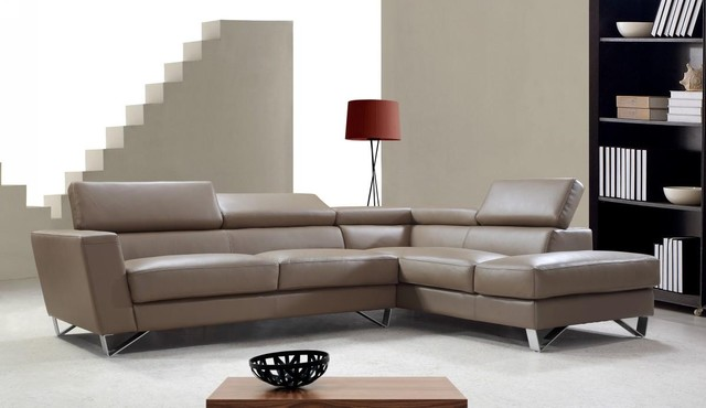 light brown leather sectional sofa with