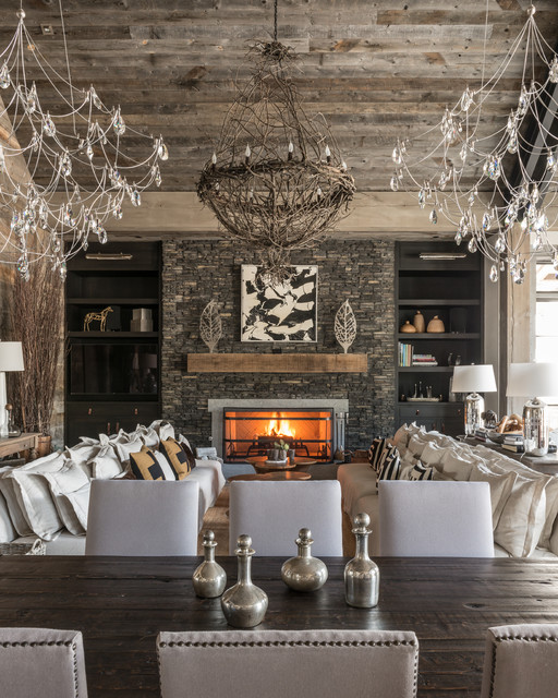 modern rustic dining room with unique