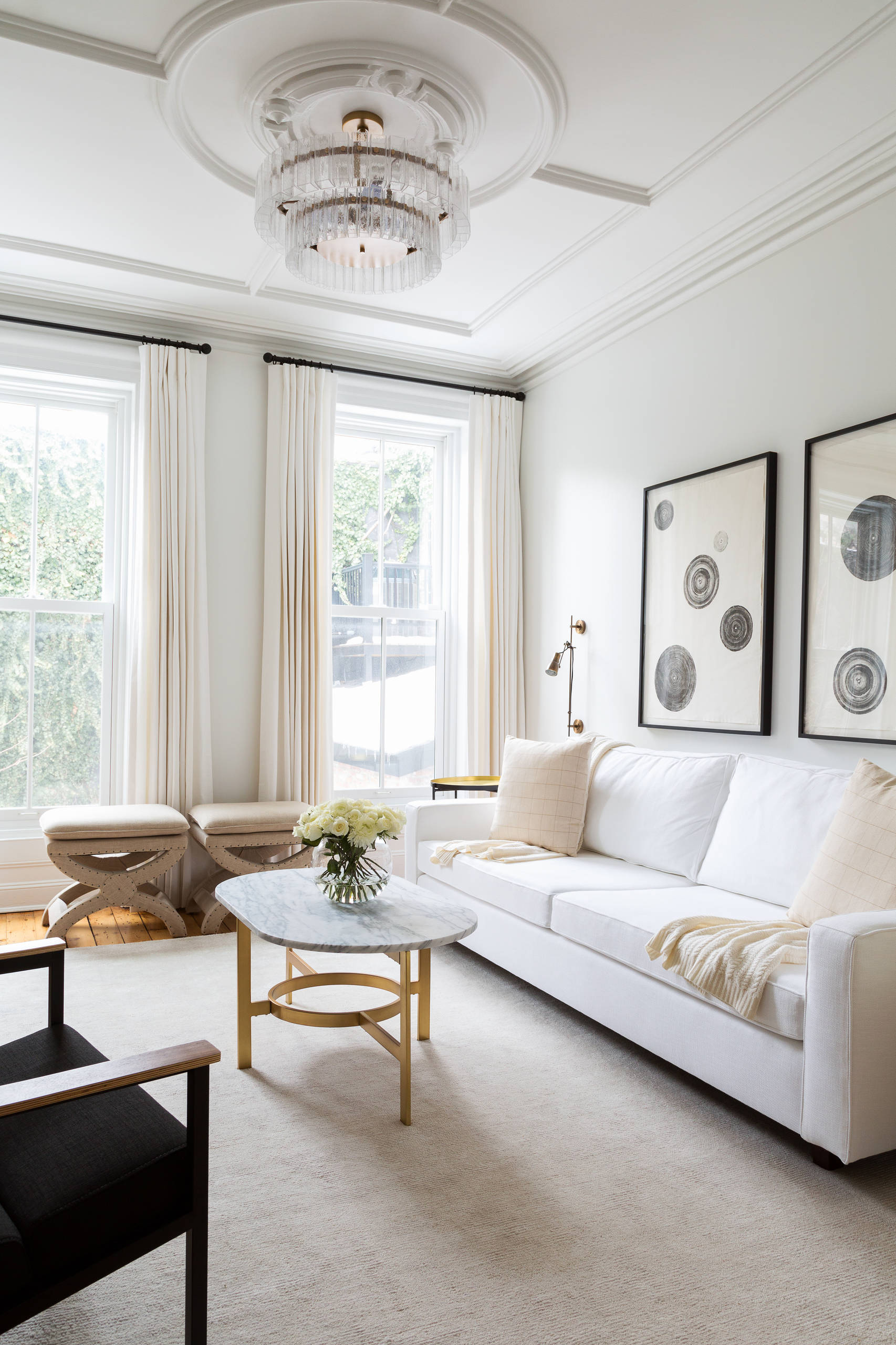 white curtains white walls living room