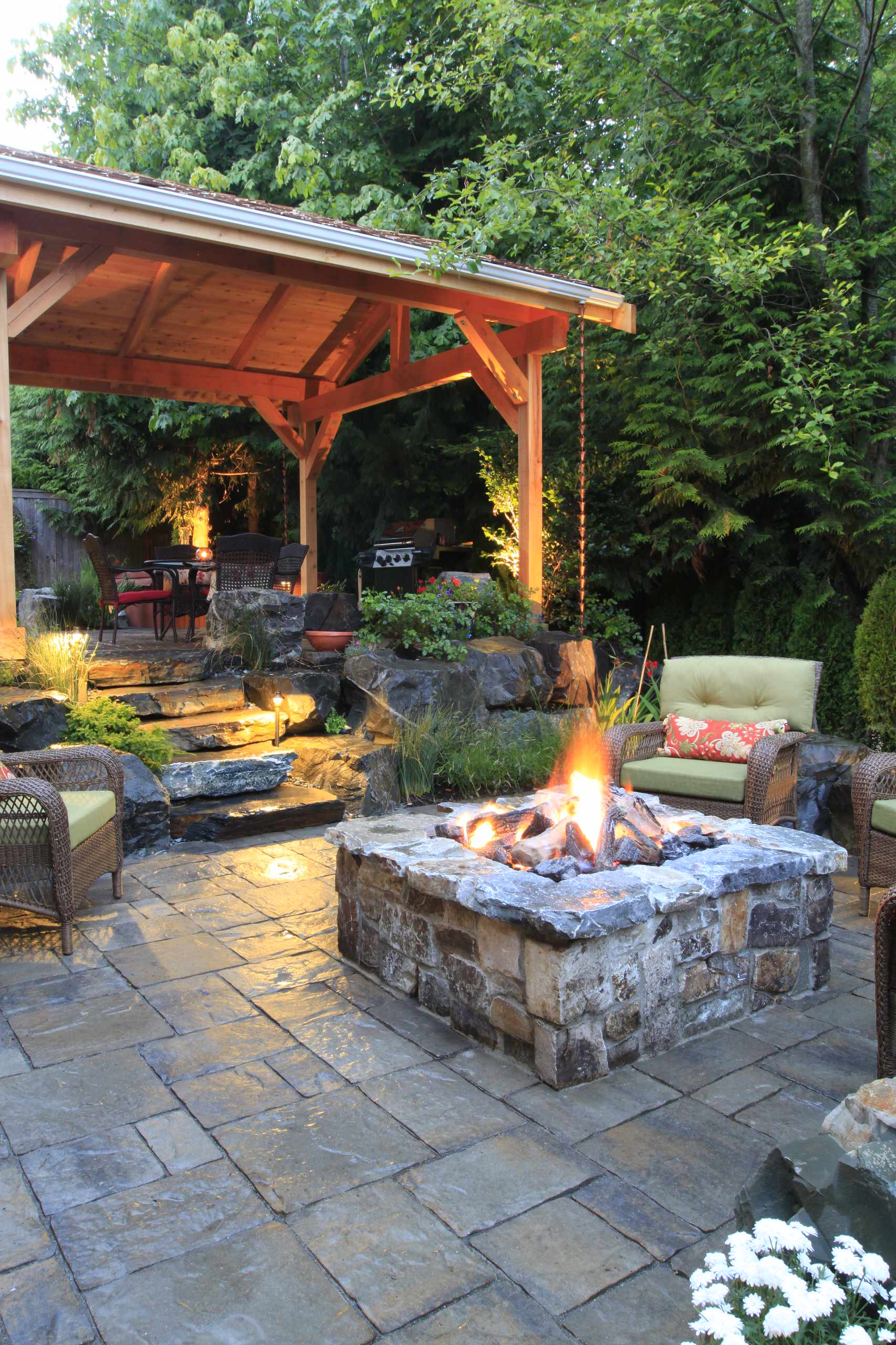 50+ Garden Stone Patio Ideas Background