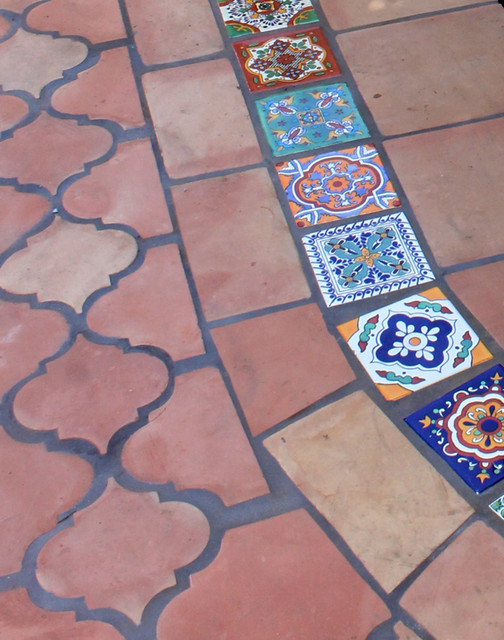 clay tiles patio w handmade mexican