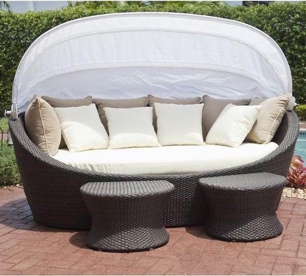 coastal wicker outdoor daybed modern