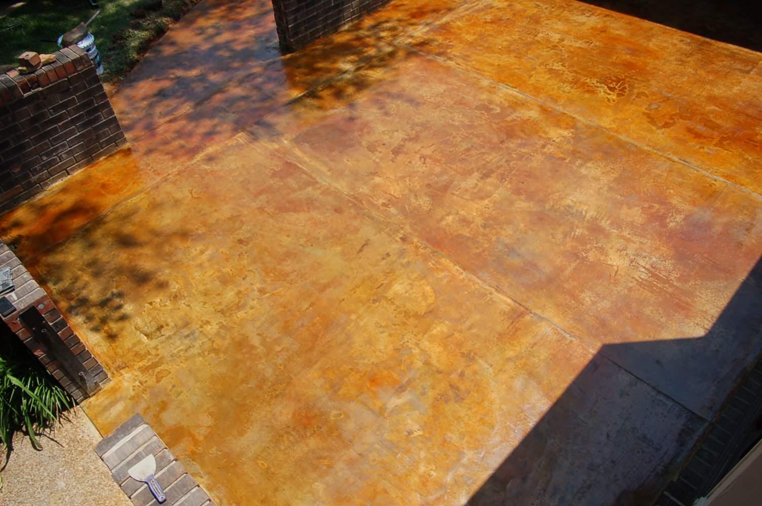 acid stain concrete patio ideas houzz