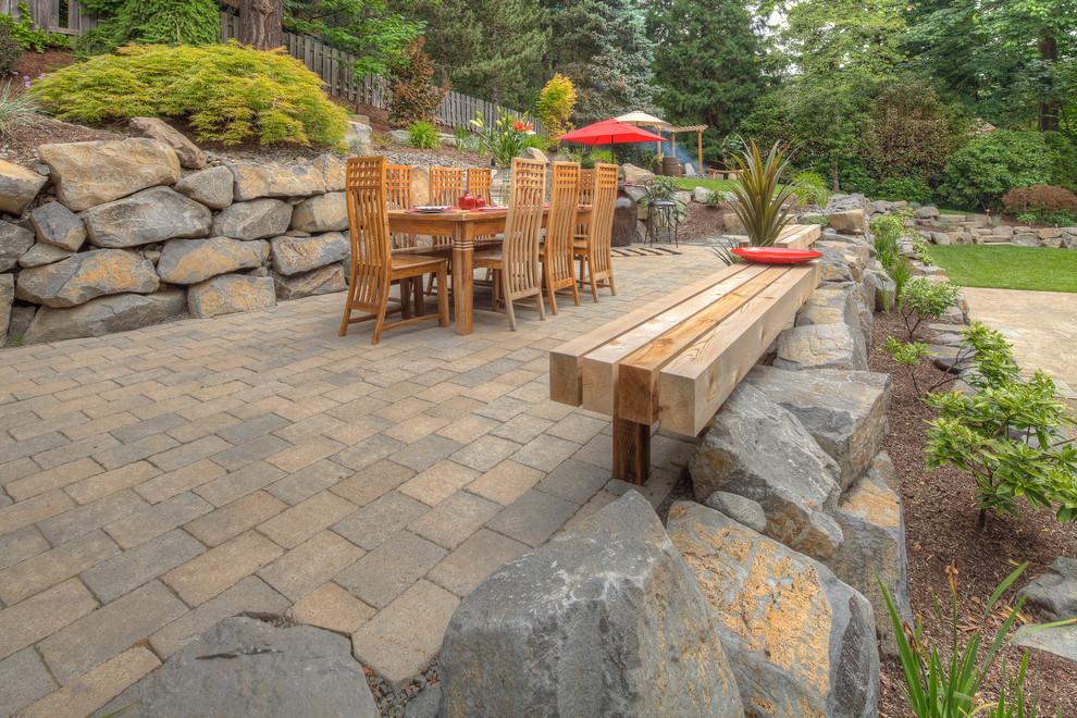 Fire pit, sport court, oversized paver patio - Traditional ... on Paver Patio Designs With Fire Pit id=92321