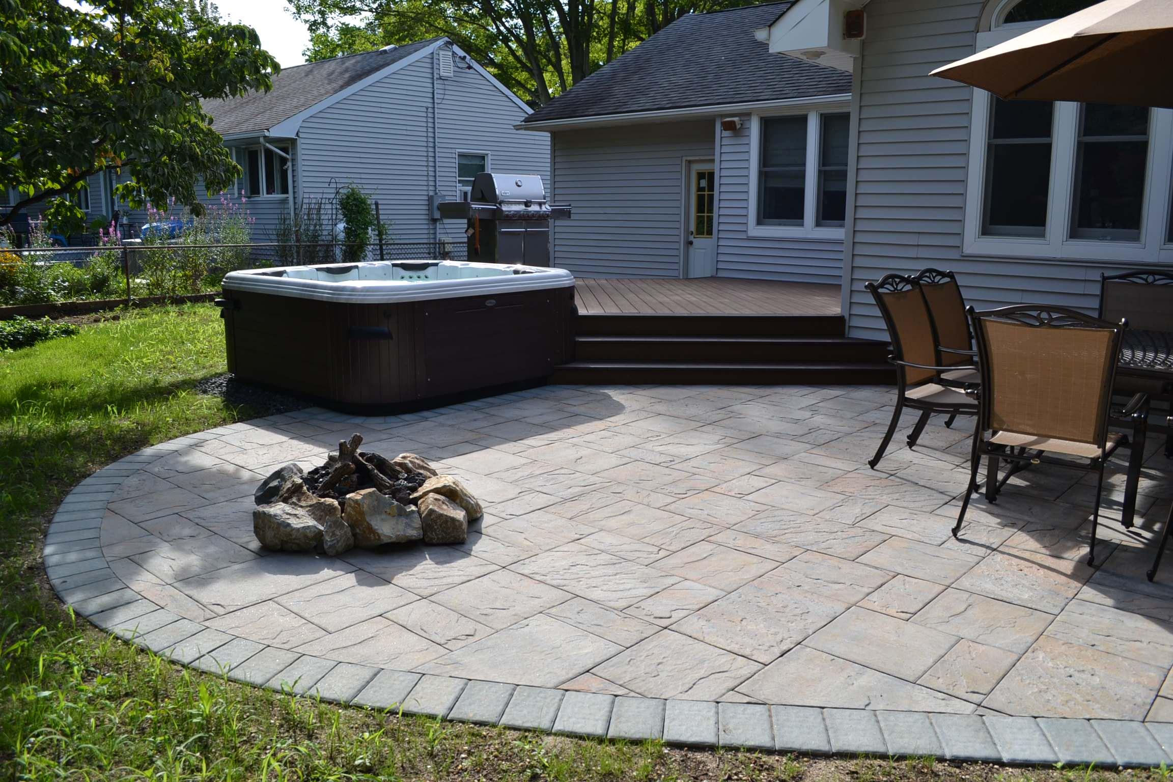 cambridge paver patio houzz