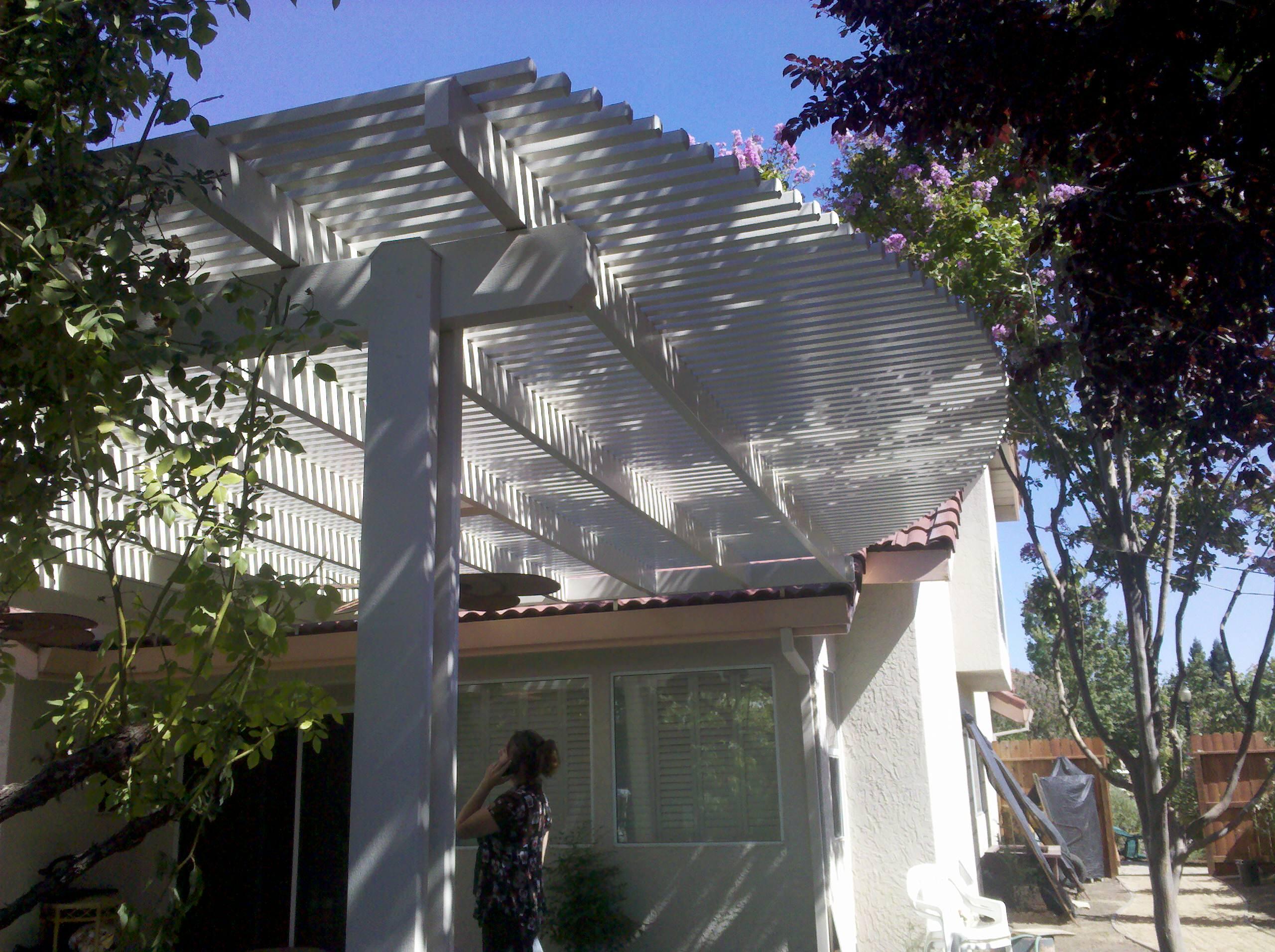 open lattice patio covers houzz