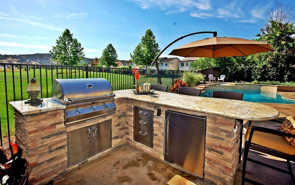 Outdoor Dream BBQ Island - Tropical - Patio - Sacramento ... on Backyard Patio Grill Island id=73157