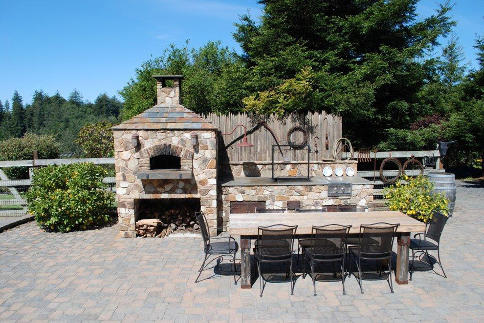 Outdoor Hip Roof Wood Fired Pizza Ovens - Traditional ... on Outdoor Patio With Pizza Oven  id=98300