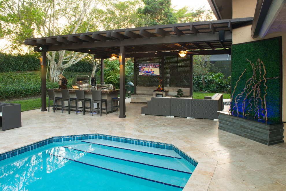 outdoor kitchen and pergola project in