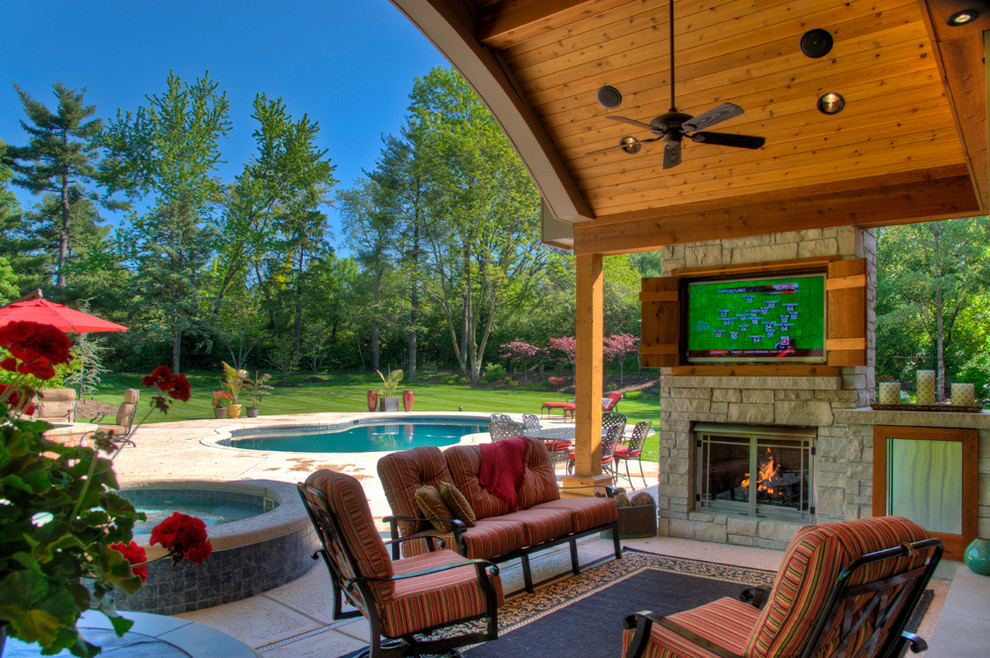 outdoor living rooms traditional