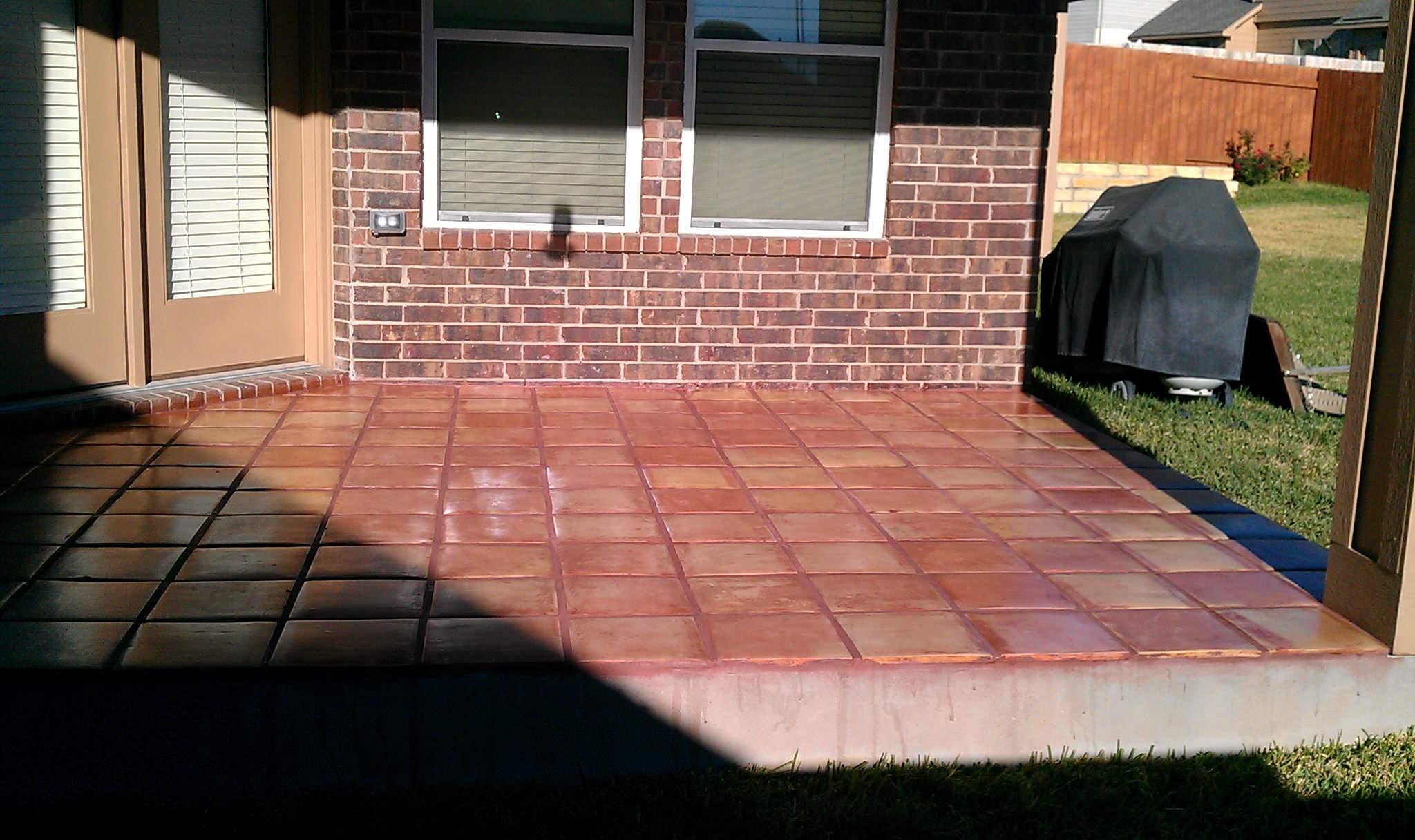 patio with saltillo tile houzz