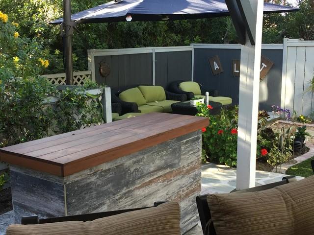 outdoor tv lift island cabinet hides tv
