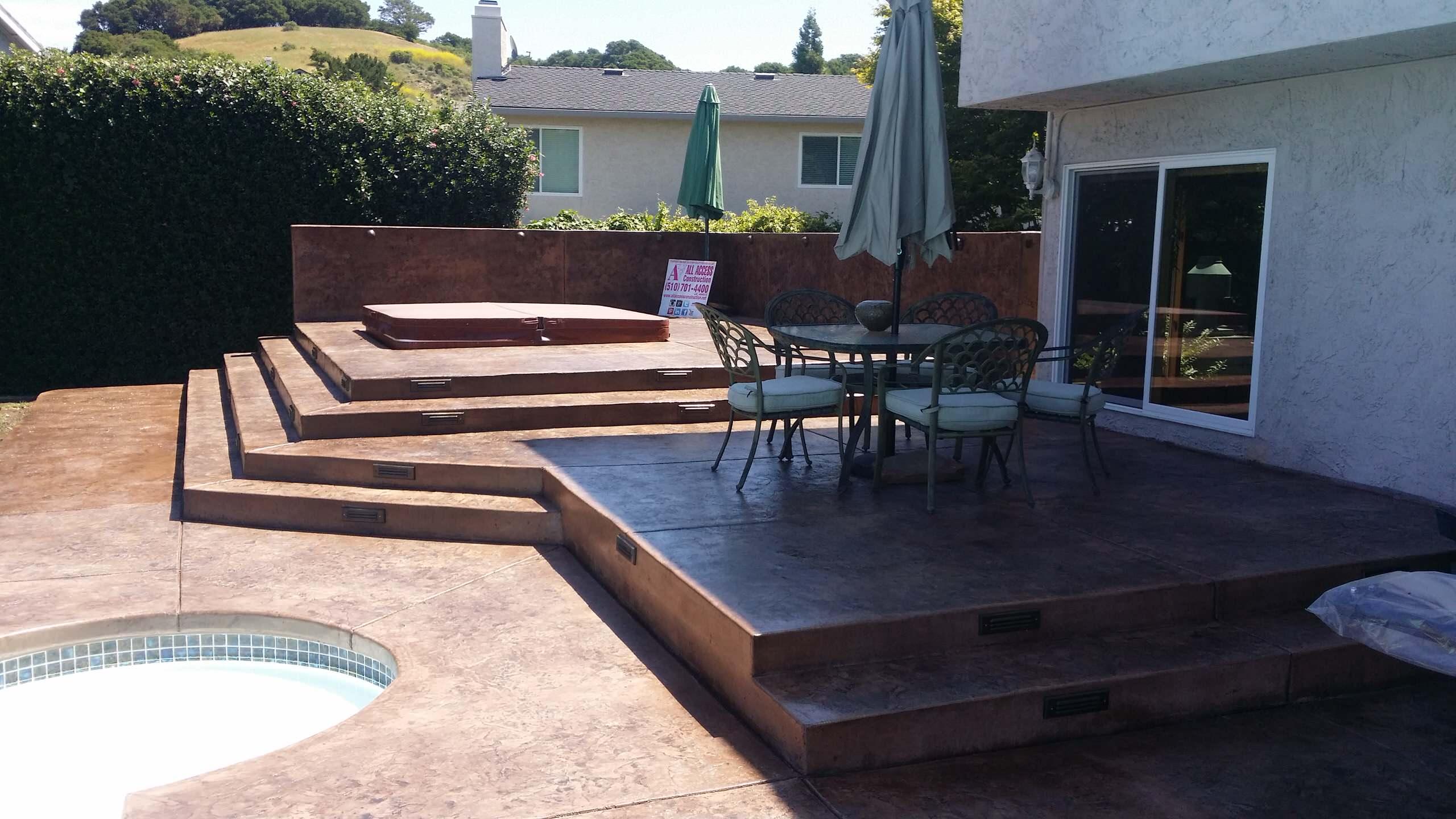 raised concrete patios houzz